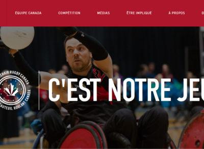 Rugby en fauteuil roulant Canada annonce son nouveau site Web