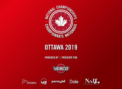 OTTAWA VA ORGANISER LES CHAMPIONNATS NATIONAUX DE 2019 PRÉSENTÉS PAR VESCO