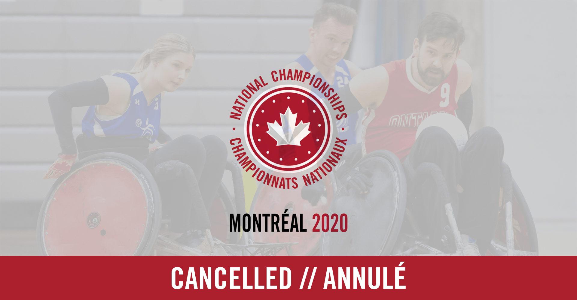 Annulation du Championnat canadien de rugby en fauteuil roulant de 2020