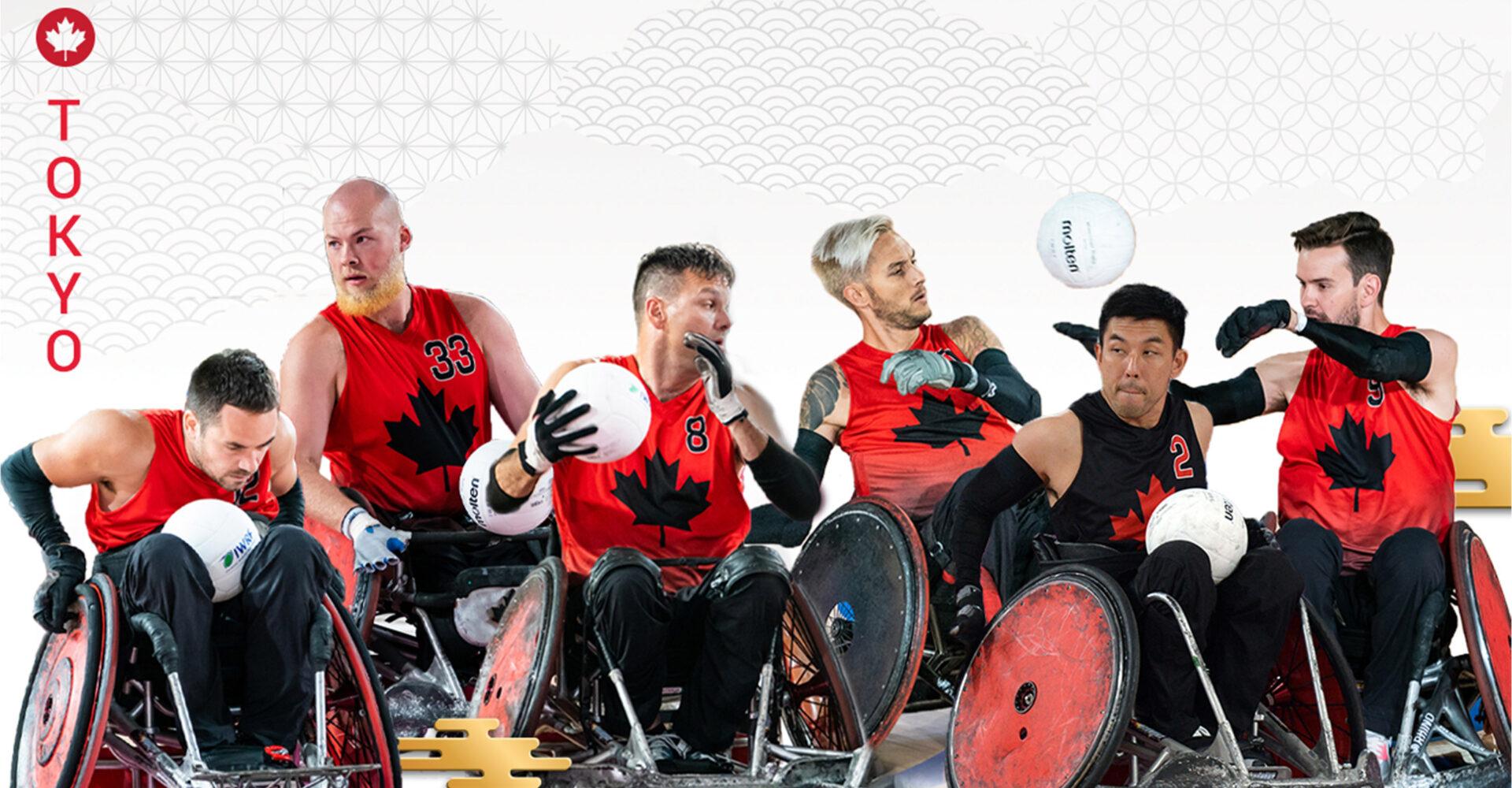 Dévoilement de l'équipe canadienne de rugby en fauteuil roulant pour les Jeux paralympiques de Tokyo 2020